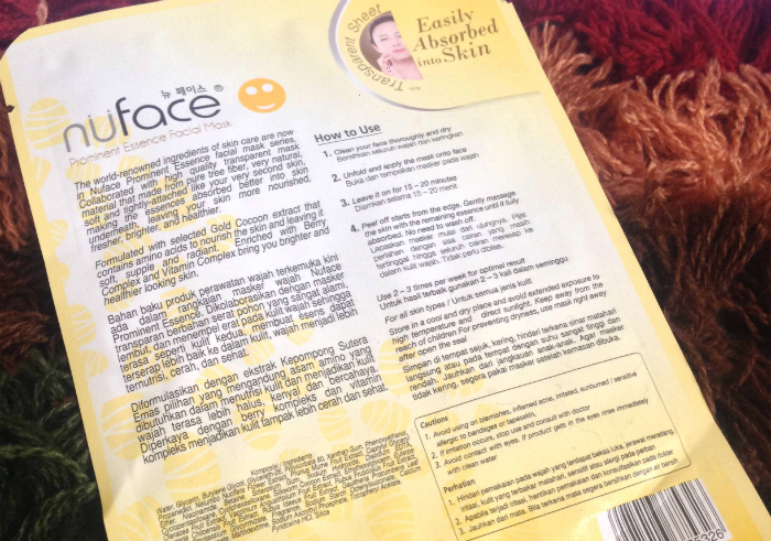 Review-nuface-prominent-essence-facial-mask-gold-cocoon-12