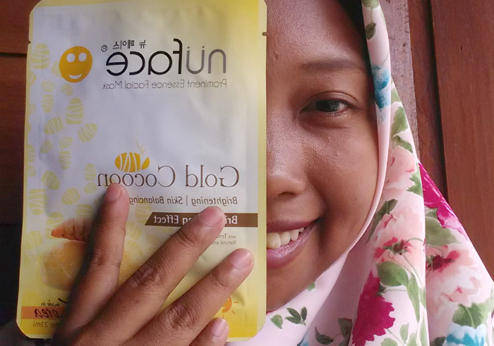 Review-nuface-prominent-essence-facial-mask-gold-cocoon-13