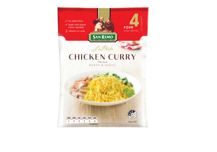 review gratis San Remo La Pasta - Chicken Curry