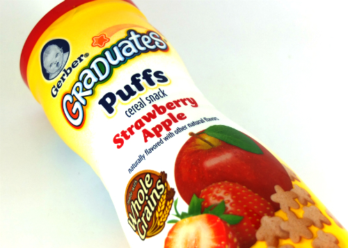 review gratis tester Gerber Graduates Puffs Strawberry Apple gratis