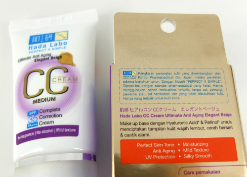 review gratis Hada Labo CC Cream Ultimate Anti Aging Elegant Beige