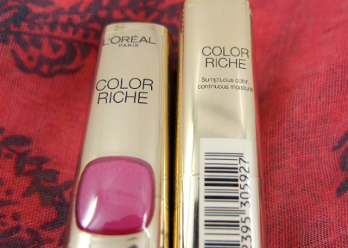 review gratis L'Oreal Paris Color Riche Pink Retro