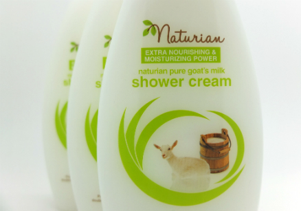 review gratis Naturian Pure Goat's Milk Shower Cream