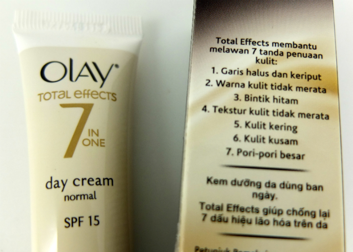 review gratis Olay Total Effects 7 in One Day Cream Normal SPF 15