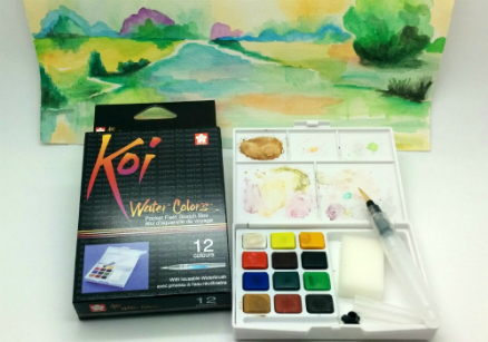review gratis Sakura Koi Water Colors 12 Colours