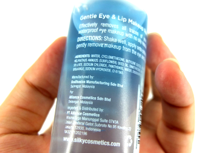 review gratis SilkyGirl Gentle Eye & Lip Makeup Remover