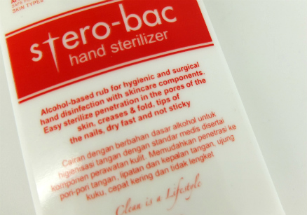 review gratis Stero-Bac Hand Sterillizer