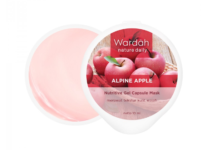review image Wardah Nature Daily Alpine Apple Nutritive Gel Capsule Mask