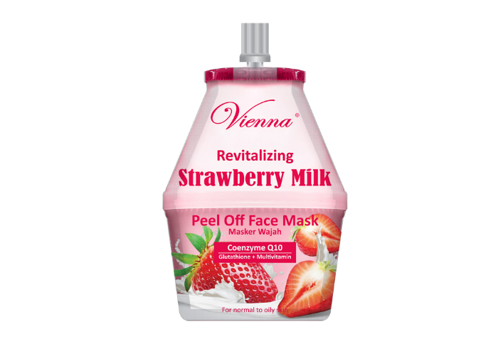 review image Vienna Peel Off Face Mask Revitalizing Strawberry Milk