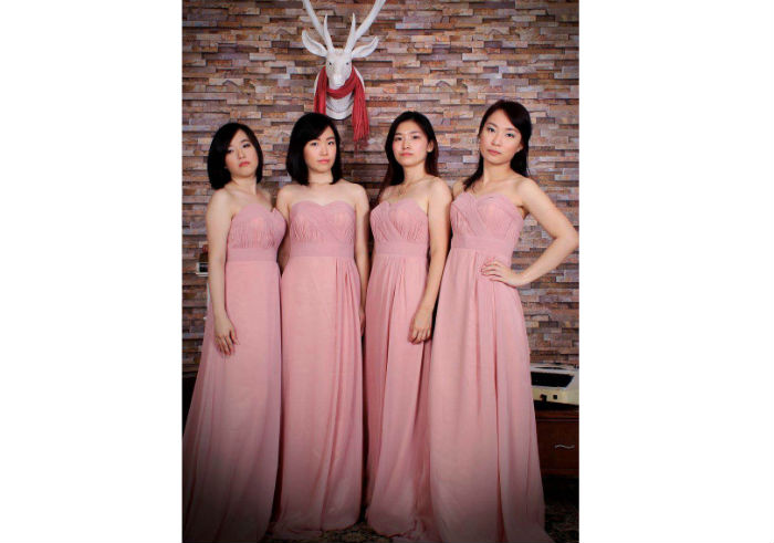 review image Baju Pesta Maxi Dress Pink Strapless dari Sparkle Wardobe