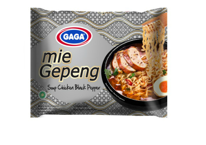Gaga Mie Gepeng - Soup Chicken Black Pepper