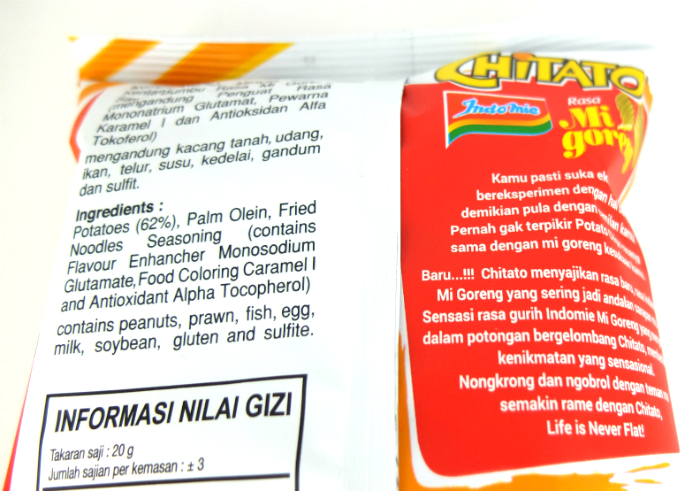 review gratis Chitato Indomie Goreng