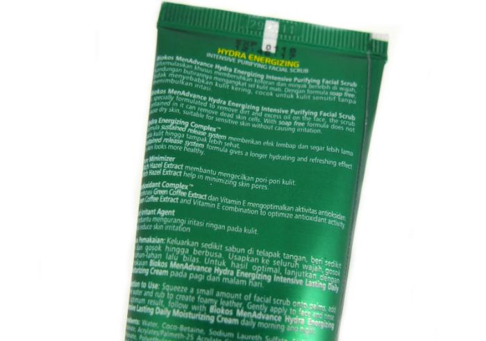 review gratis Biokos Men Advance Hydra Energizing Facial Scrub
