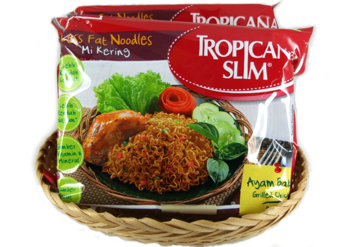review gratis Tropicana Slim Less Fat Noodles Rasa Ayam Bakar