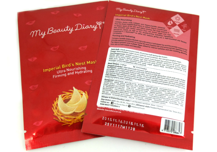 review gratis My Beauty Diary Imperial Bird's Nest Mask
