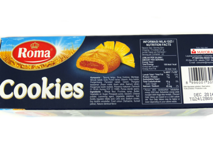 review gratis Roma Cookies Pineapple Filled
