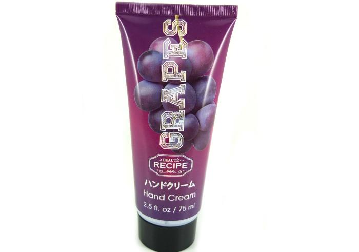 review gratis Beaute Recipe Hand Cream Grapes