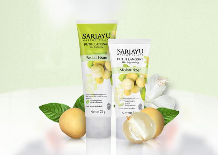 review gratis Sariayu Putih Langsat Facial Foam dan Moisturizer
