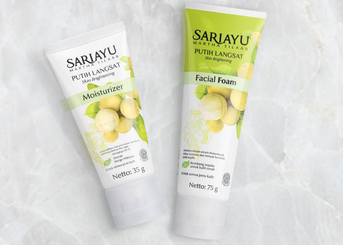 Sariayu Putih Langsat Facial Foam dan Moisturizer