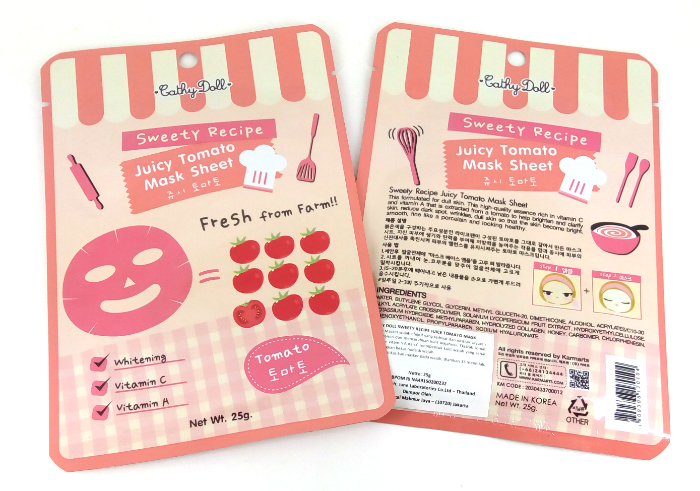 review gratis Cathy Doll Sweety Recipe Juice Tomato Mask
