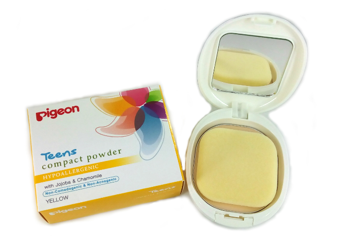 Bedak Padat Pigeon Teens Compact Powder Yellow