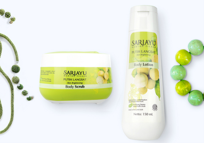 Sariayu Putih Langsat Body Scrub dan Body Lotion