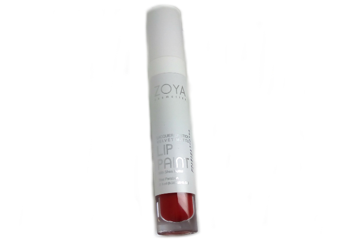 review gratis Zoya Cosmetics Lip Paint Pure Red