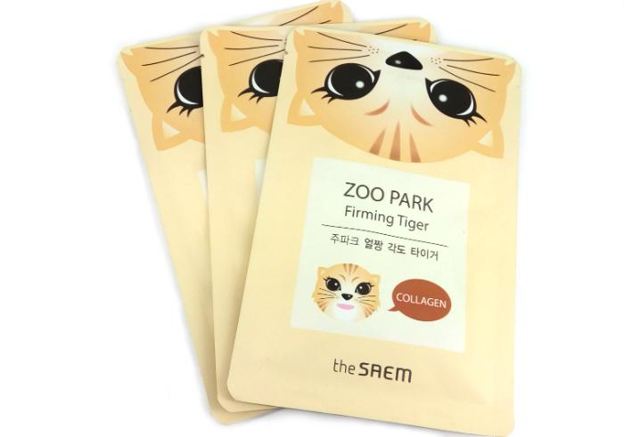 gambar Masker Wajah The Saem Zoo Park Firming Tigger gratis