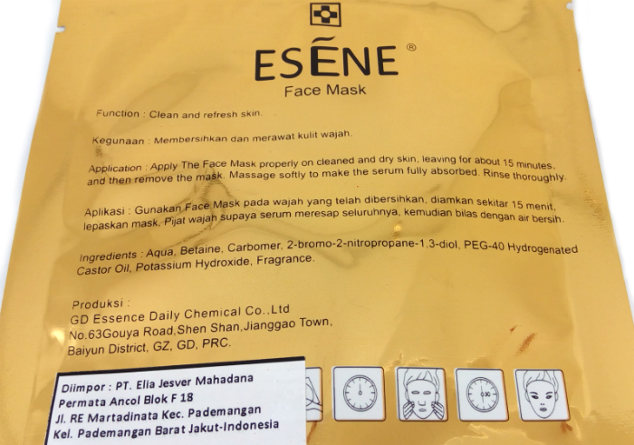 review gratis Esene Face Mask Collagen Pink