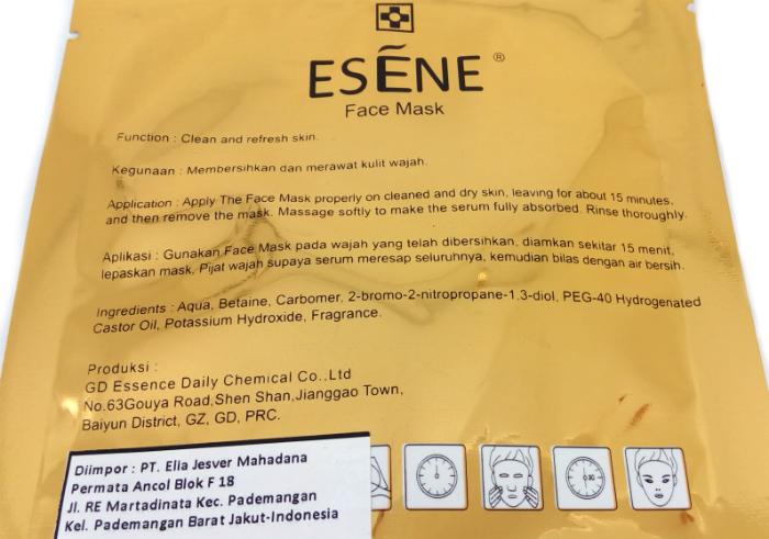 review gratis Esene Face Mask Collagen Pink
