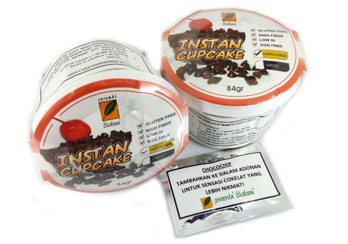 review gratis Serambi Botani Instan Cupcake Choco Cheese