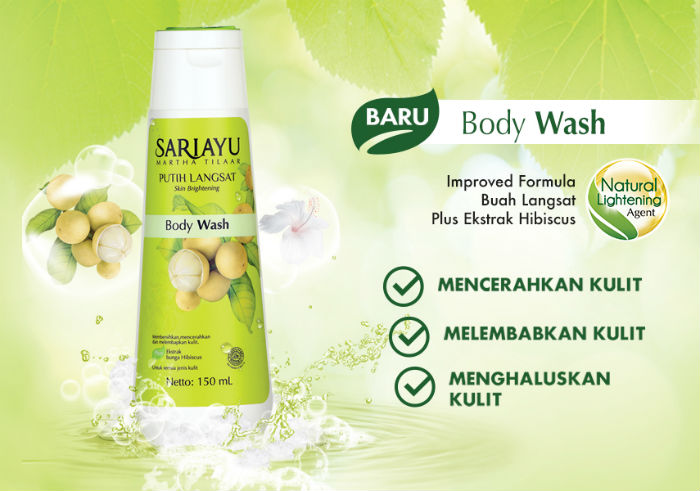 review gratis Sariayu Putih Langsat Body Wash