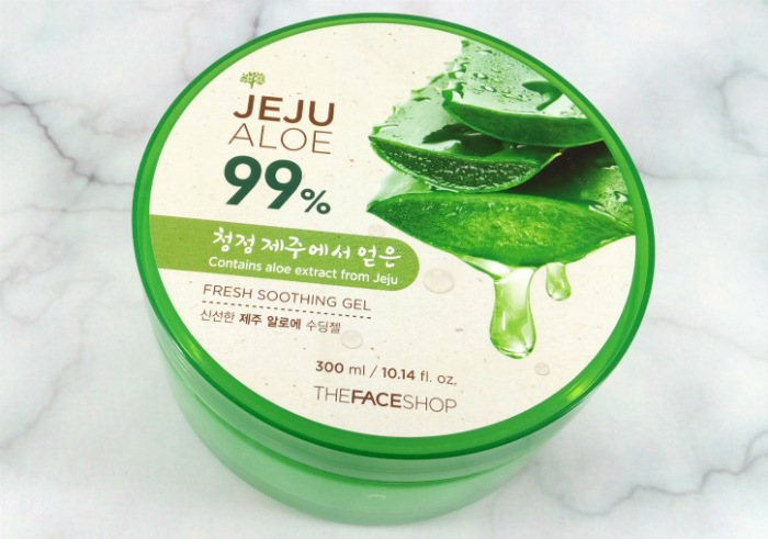 review gratis The Face Shop Jeju Aloe 99% Fresh Soothing Gel