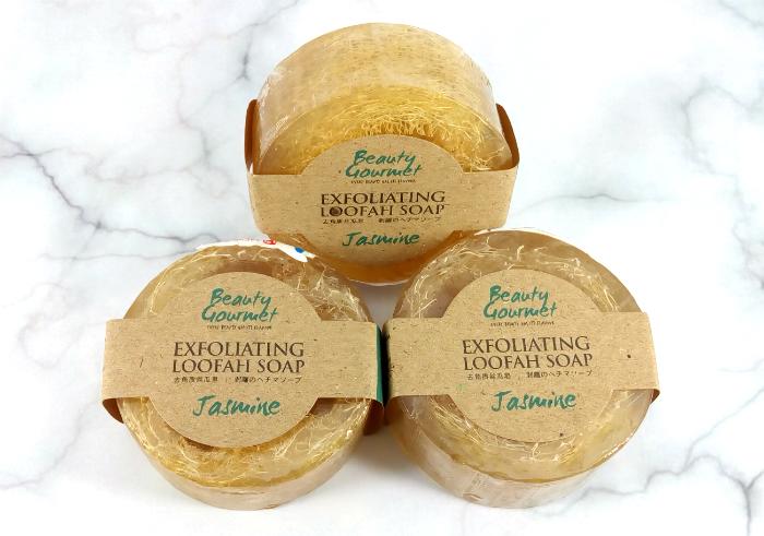 review gratis Secret Garden Beauty Gourmet Exfoliating Loofah Soap Jasmine