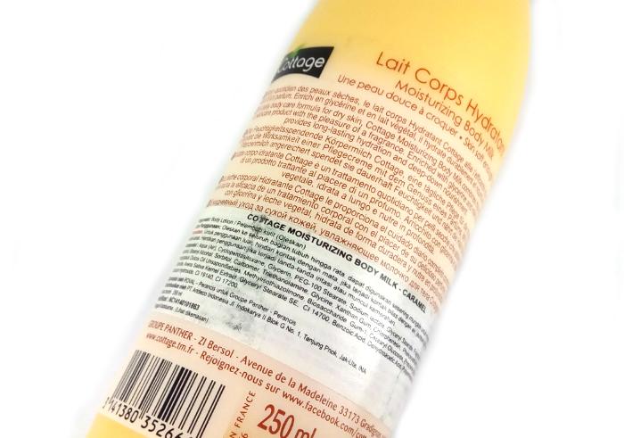 foto Cottage Lait Corps Hydratant Moisturizing Body Milk Caramel