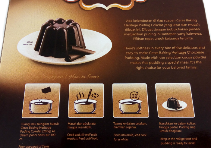 review gratis Ceres Chocolate Pudding