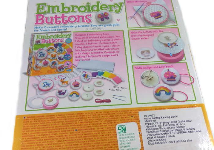 review gratis 4M Embroidery Buttons
