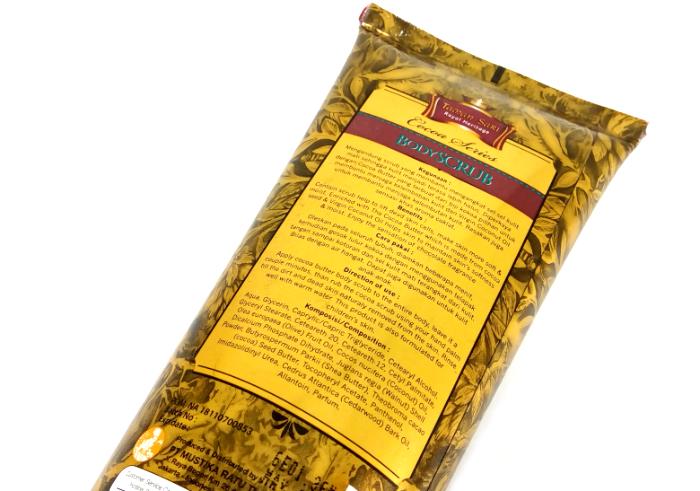 review gratis Taman Sari Royal Heritage Body Scrub Cocoa Series
