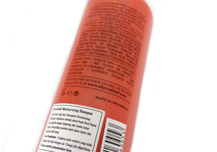 review gratis Eternaleaf Pure Papua Plant Moisturizing Shampoo