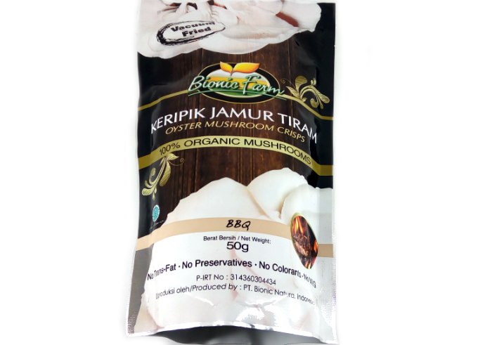 review gratis Bionic Farm Keripik Jamur Tiram