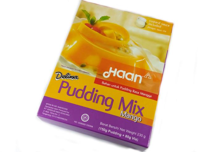 review gratis Haan Pudding Mix Mango