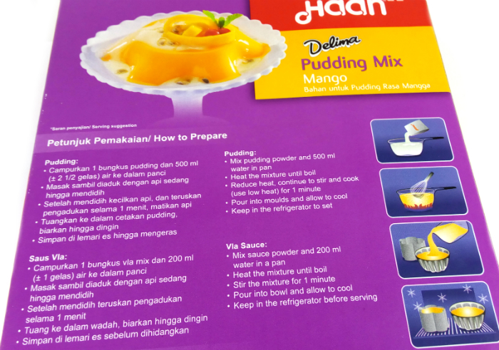review gratis Haan Pudding Mix Mango