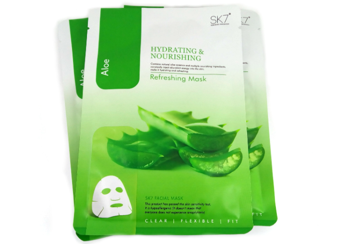 review gratis Masker Wajah SK7 Aloe Refreshing Mask Hydrating & Nourishing