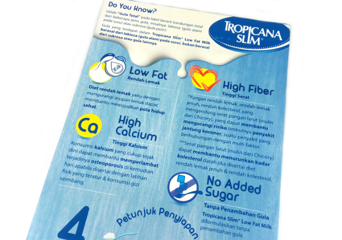 review gratis Tropicana Slim Low Fat Milk Vanilla