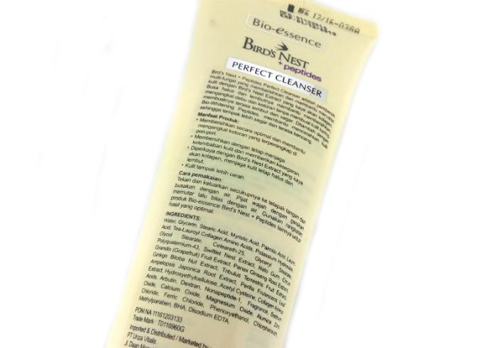 review gratis Bio-essense Bird's Nest Perfect Cleanser Nutri Collagen & Whitening