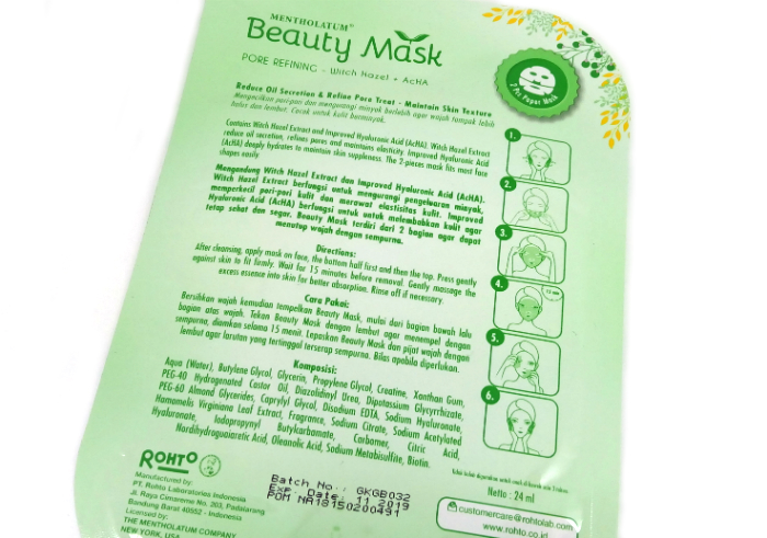 review gratis Beauty Mask Pore Refining