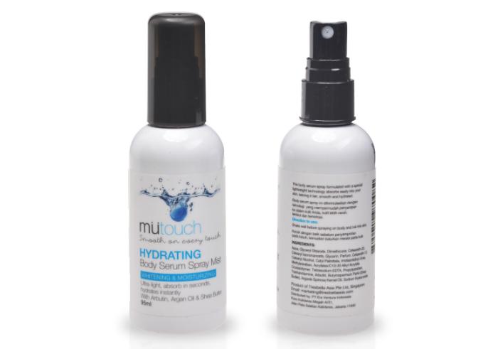 review gratis Mutouch Body Serum Spray Mist Hydrating