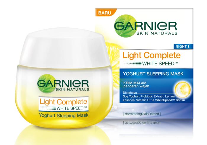 review gratis Garnier New Light Complete Yoghurt Sleeping Mask