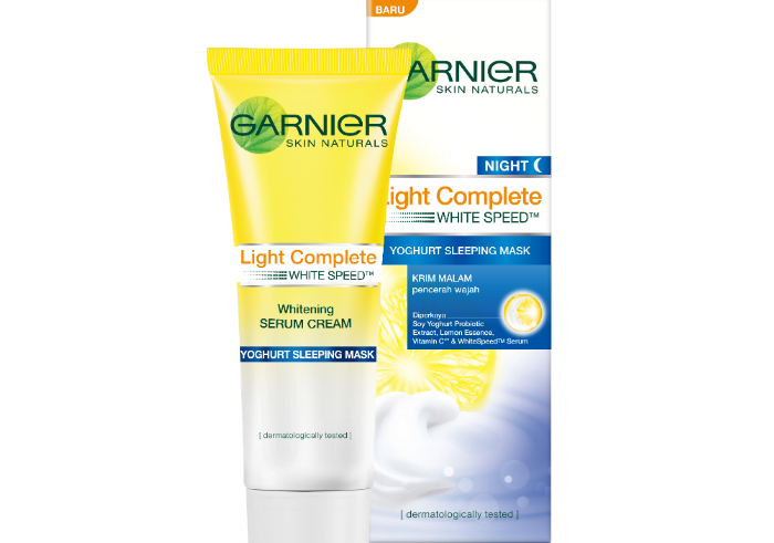 review gratis Garnier New Light Complete Yoghurt Sleeping Mask