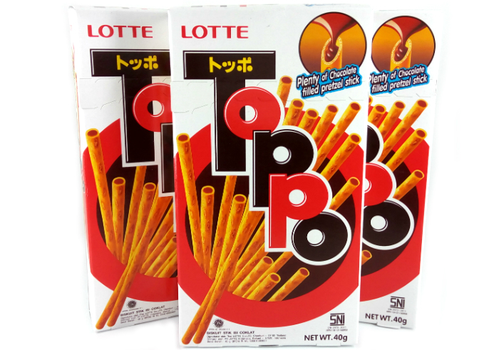 review gratis Lotte Toppo Chocolate